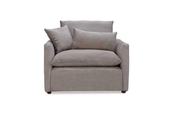 Cameron Armchair, Gray Tweed - capsulehome.com