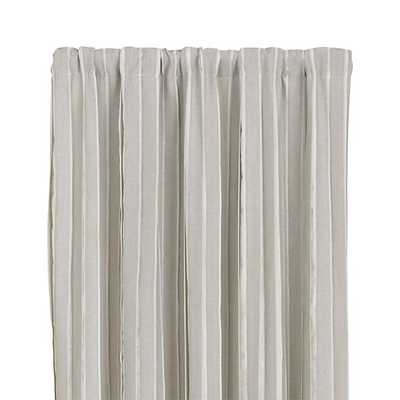 "Kendal Natural 50""x108"" Curtain Panel - Natural - Crate and Barrel"