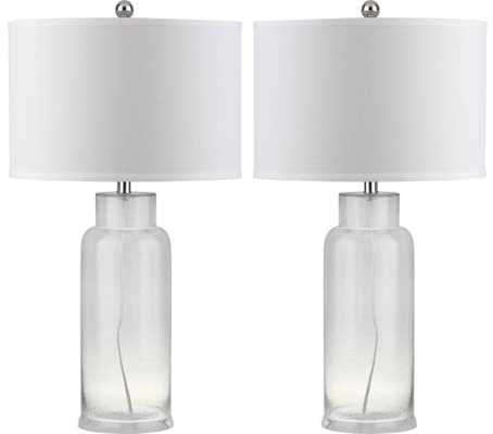 Bottle Glass Table Lamp - set of two - Domino
