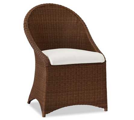 PALMETTO ALL-WEATHER WICKER DINING CHAIR - HONEY - Pottery Barn