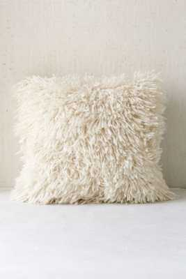 "Assembly Home Shaggy Sweater Pillow - 16"" sq. - Cream- Without insert - Urban Outfitters"