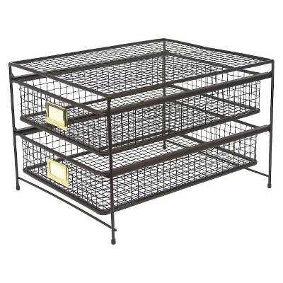 "Thresholdâ""¢ Rustic Wire 2-drawer Organizer - Target"