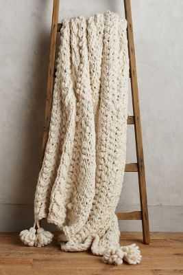 Hand-Knit Sweater Throw - Anthropologie