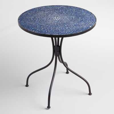 Peacoat Blue Cadiz Bistro Table - World Market/Cost Plus