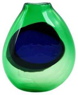 M. Saull Signed Studio Art Glass Vase - One Kings Lane