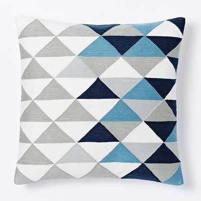 Optical Triangle Crewel Pillow - West Elm
