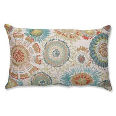 "Olstykke-Stenlose Aqua Lumbar Pillow, 11.5"" x 18.5"", fill - Wayfair"