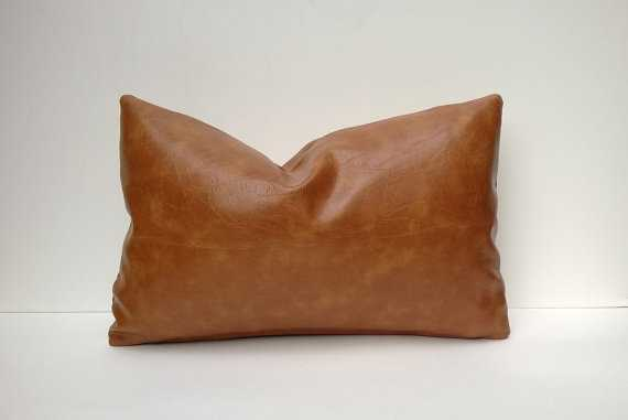 Decorative Faux Leather Pillow Cover - Etsy