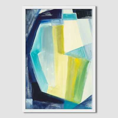"Sarah Campbell - Geo Strokes - The Glass Vase - 14"" x 20"" - White Frame - West Elm"