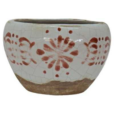 "Crackle Glaze Painted Bowl White - Nate Berkusâ""¢ - Target"