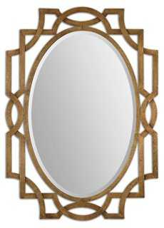 Dianna Wall Mirror, Gold - One Kings Lane