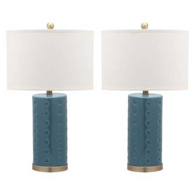 Safavieh Table Lamp - Blue (Set of 2) - Target