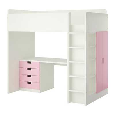 STUVA Loft bed with 4 drawers - Ikea