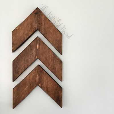 Wood Chevron Arrow Rustic Wall Decor Set of 3 - Etsy