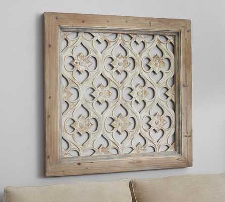 "Hempstead Carved Wood Wall Art Panel-39""x39"" - Pottery Barn"