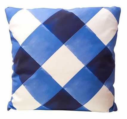 """Watercolor Gingham - 18"""" x 18"""" - With down insert - Society Social"""