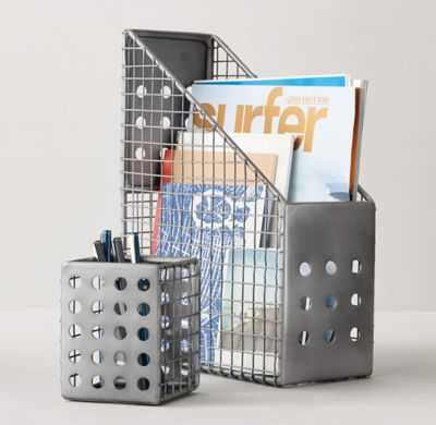 PERFORATED METAL DESK ACCESSORIES - Magazine Box - RH Teen