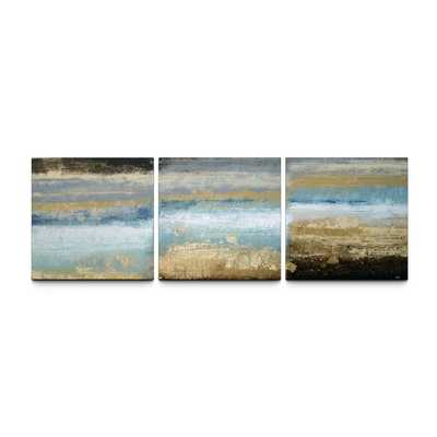 'Rising Tide' 24x72 Textured Canvas Print Triptych-Unframed - Overstock