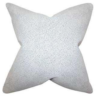 Zif 18x18 Cotton Pillow - One Kings Lane