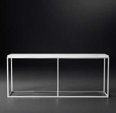 "NICHOLAS MARBLE CONSOLE TABLE - 72"" - RH Modern"