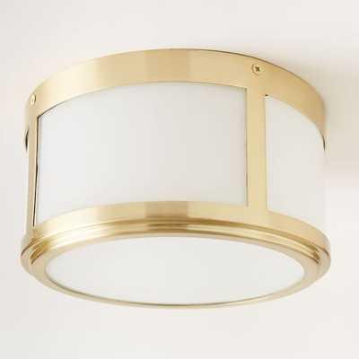 Classic Cubic Flushmount + Sconce - Circle - Antique Brass - West Elm