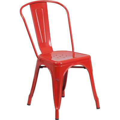 Stacking Side Chair-Red - AllModern