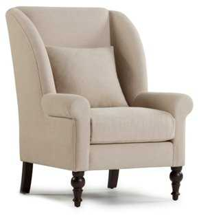 Kendall Wingback Chair, Sand - One Kings Lane