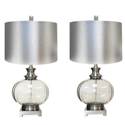 "Urban Designs Talia 28"" H Table Lamp with Drum Shade - set of 2 - Wayfair"