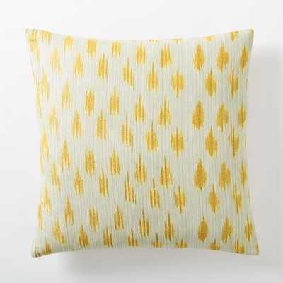 Metallic Ikat Dot Pillow Cover - Horseradish - West Elm