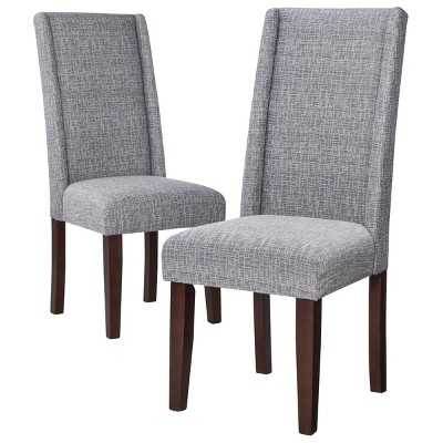 Charlie Modern Wingback Dining Chair (Set of 2) - Graphite - Target
