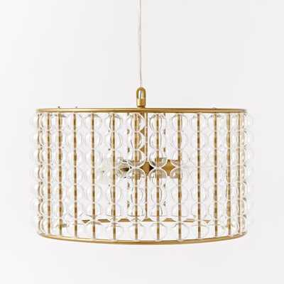 Marney Glass Chandelier - Drum - West Elm