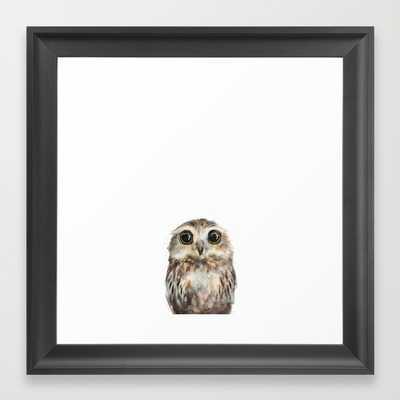 """Little Owl - Framed - 12"""" x 12"""" - Society6"""