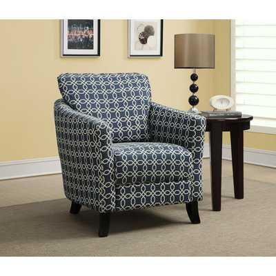 Angled Kaleidoscope Arm Chair - Wayfair