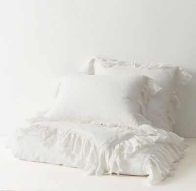 TATTERED RUFFLE DUVET COVER - RH Teen