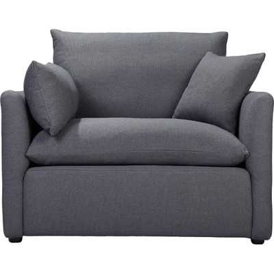 Cameron Armchair - Charcoal Blue Linen - Wayfair