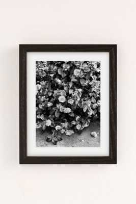 """Debbie Carlos Black And White Flowers Art Print - 13"""" x 19"""" - Framed - Urban Outfitters"""