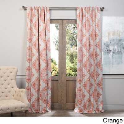 "EFF Henna Blackout Curtain Panel - Orange - 84""L x 50""W - Overstock"