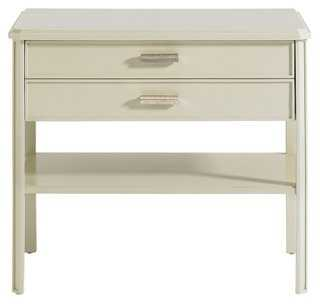 Santo Nightstand, Ivory - One Kings Lane