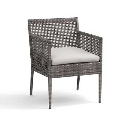 CAMMERAY ALL-WEATHER WICKER DINING CHAIRS- ARMCHAIR - Pottery Barn