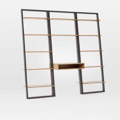 Ladder Shelf Desk + Wide Bookshelf Set - West Elm