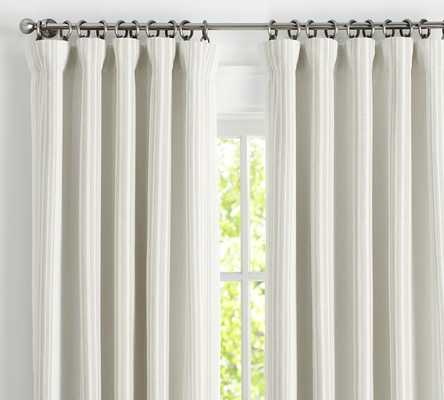 "RIVIERA STRIPE DRAPE WITH BLACKOUT LINER, 50 X 96"", SANDALWOOD - Pottery Barn"