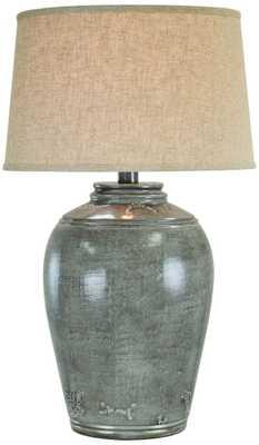 Rosario Jug Gray Slate Table Lamp - Lamps Plus