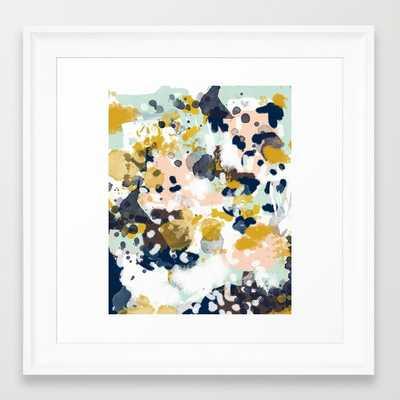 FRAMED ART PRINT/ SCOOP WHITE MINI - Society6