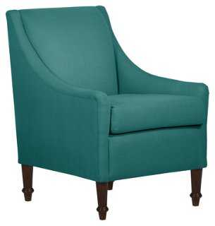 Holmes Swoop-Arm Chair, Laguna - One Kings Lane
