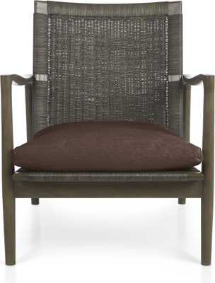Sebago Chair with Fabric Cushion-Coffee - Crate and Barrel