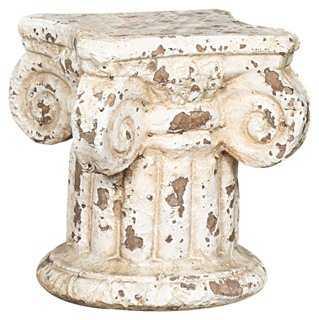 "7"" Column Pedestal, Cream - One Kings Lane"