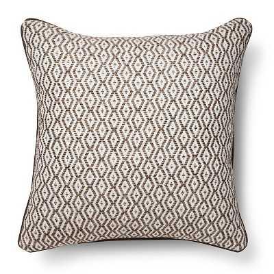 "Diamond Stripe Throw Pillow - Brown - 18""sq. - Polyester Insert - Target"