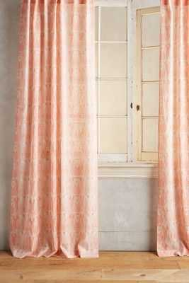 "Paradise Found Feathered Curtain-108""x50"" - Anthropologie"