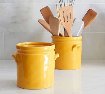 Yellow Ceramic Crock - Pottery Barn