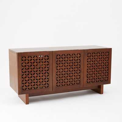 Carved Wood Media Console - West Elm